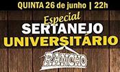 Folder do Evento: Especial Sertanejo universitário