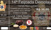 Folder do Evento: 14ª Feijoada DeMolay - Capítulo Mauro Lu