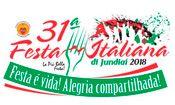 Folder do Evento: 31ª. Festa Italiana de Jundiaí - 2018