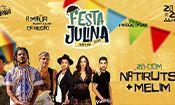 Folder do Evento: Natiruts e Melim na Festa Julina Jundiaí