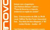 Folder do Evento: Debate: Plano de Governo para Jundiaí