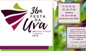Folder do Evento: 36ª Festa da Uva e VII Expo Vinhos