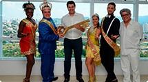 Corte do Carnaval recebe a chave da cidade