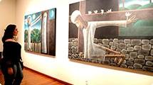 Quadros de Inos Corradin chamam a atenção na Pinacoteca